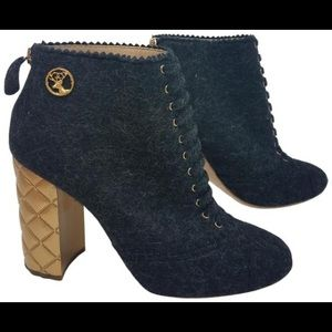 Chanel Quilted Heel Ankle Boots